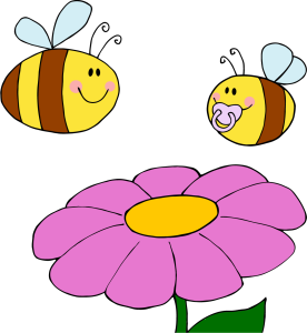 png_4125-Mother-Bee-Fflying-With-Baby-Bee-Over-Flower
